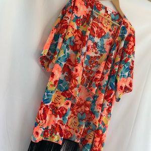 LuLaRoe MONROE Kimono Sheer large A3
